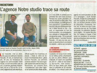revue de presse Notre Studio